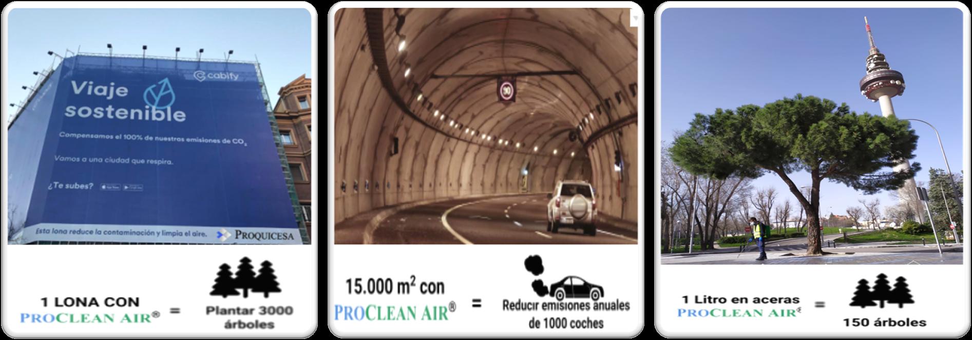 ProcleanAir protege madrid en lonas, tuneles y aceras